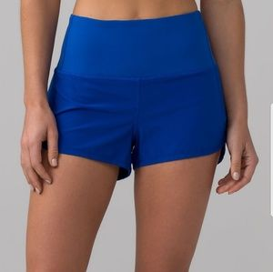 Lululemon high waisted speed shorts size 4